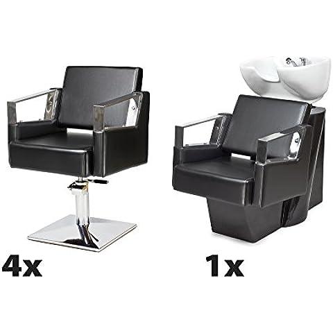 Kit Mobili per Parrucchieri VERDE 4 x