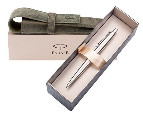 stylish-parker-with-gift-box-and-london-pagani-collection-leather-pouch-parker-jotter-ballpoint-pen-
