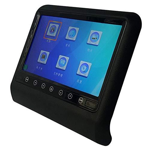 KNOSSOS Schermo a 9 Pollici Ultra-Thin Car Bluetooth Mp5 Monitor per poggiatesta Monitor Nero