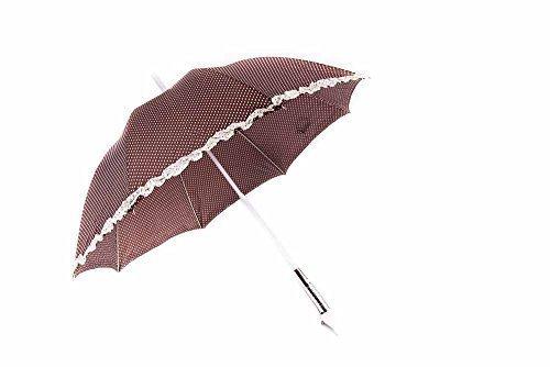 LED Regenschirm braun