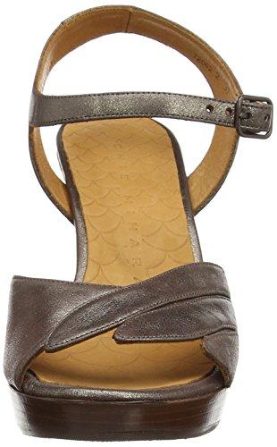 Chie Mihara Jantra, Sandales Plateforme femme Beige - Beige (Ante Metal Taupe)