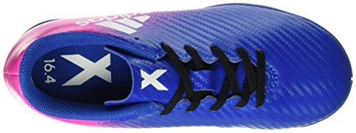 adidas X 16.4 In, Chaussures de Football Mixte Enfant Bleu (Blue/ftwr White/shock Pink)
