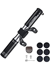 Victagen High Pressure Mini Portable Bike Pump With Pressure Gauge with Tyre Patch Kit and Air Inflatable Needles for Balls