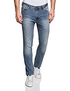 oodji Ultra Uomo Jeans Basic a Vita Media