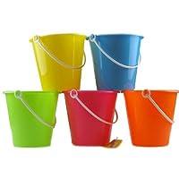 Set Of 10 Mixed Colour Beach Buckets Wholesale Bulk Buy - Toyrific