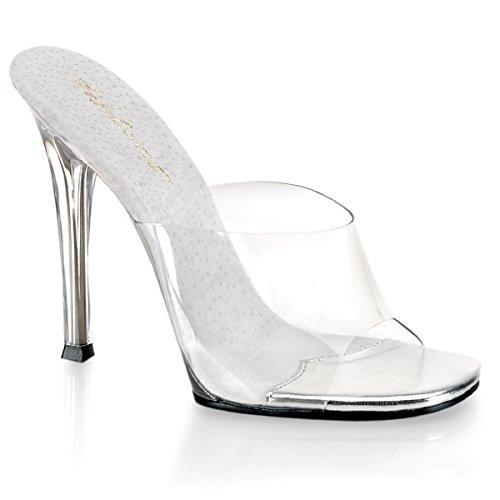 Favolosa Gala-01, Sandalo Da Donna Chiaro / Trasparente