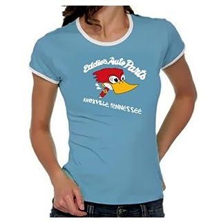 Eddies Autoparts -Knoxville- Jackass Girly Ringer hellblau/weiss, Gr.L