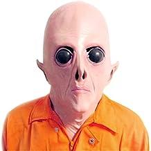 YOUTUMALL Scary UFO Alien cabeza máscara de látex para adultos disfraz de Masquerade Party