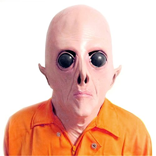 youtumall Scary UFO Alien Kopf Maske Latex für Erwachsene Masquerade Kostüm Party