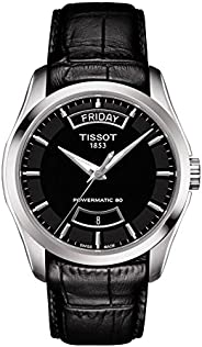 Tissot Mens Automatic Watch, Analog Display and Leather Strap T035.407.16.3207.71