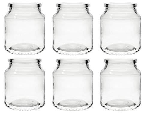 hocz  Windlicht Set Teelichtgläser | 2/4/6 teilig | Typ 175 | Rund Hochwertiges Glas | Glasdose Glasgefäß Tischdeko Teelichtgläser Hochzeitsdeko (4 Stück)