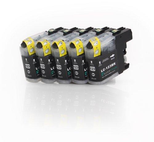 10x Negro XL Cartuchos de impresora (LC-121BK/LC de 123BK) compatible con Brother con chip para Brother DCP-J752DW MFC-J870DW J6920DW J4110DW MFC-J4410DW J4510DW J4610DW J4710DW