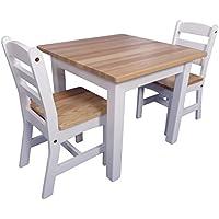 Kinder-Möbel-Set Landhaus - Holztisch - Holzstühle - Weiß - Massiv - Basteltisch preisvergleich bei kinderzimmerdekopreise.eu