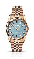 SEKONDA 2090 - Reloj de cuarzo para mujeres, color oro rosa de Sekonda