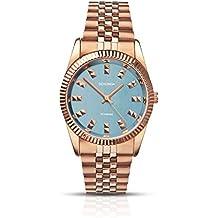 SEKONDA 2090 - Reloj de Cuarzo para Mujeres, Color Oro Rosa