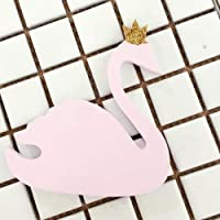 LANGCHENG Cute pink crown swan wood coat hook children