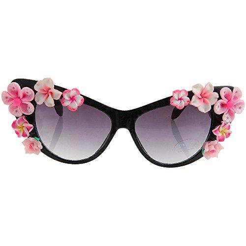 Yiph-Sunglass Sonnenbrillen Mode Damen-Sonnenbrillen süße rosa Farbe Sommer Strand Stil Dame Blume handgemachte Katzenaugen UV-Schutz Sonnenbrillen