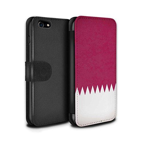 Stuff4 Coque/Etui/Housse Cuir PU Case/Cover pour Apple iPhone 5C / Arménie/Arménien Design / Drapeau Asie Collection Qatar/Qatari