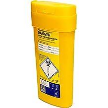 Qualicare seguro para objetos punzantes aguja jeringa insulina eliminación cirugía caja papelera, 0,6