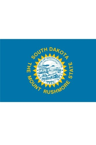 Flag of South Dakota: Journal; 160 Lined / ruled pages, 6x9 inch (15.24 x 22.86 cm) Laminated. (Notebook Flagge Amerikanische)