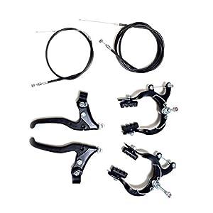 eRadius Old School BMX-Fahrrad mit Messschieber, Hebel, Kabel blackmtb