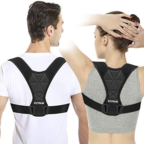 EXTSUD Geradehalter zur Haltungskorrektur, Rückenstütze Rückentrainer für Damen und Herren Geradehalter Schulter für Bessere Körperhaltung Gesunde Haltung (M)