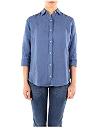 312023887125 Fred Perry Camisas Mujer Lino Azul
