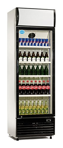 Flaschenkühlschrank 350 Liter Kühlschrank Umluftkühlung Getränkekühlschrank Gewerbekühlschrank 620 x 635 x 2011 mm