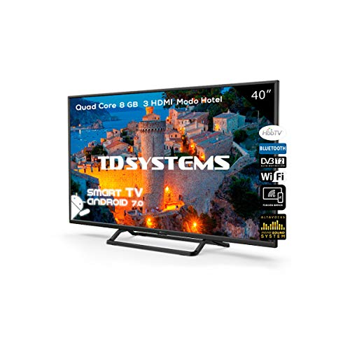 Televisor Led 40 Pulgadas Full HD Smart, TD Systems K40DLX9FS. Resolución 1920 x 1080, 3X HDMI, VGA, 2X USB,...