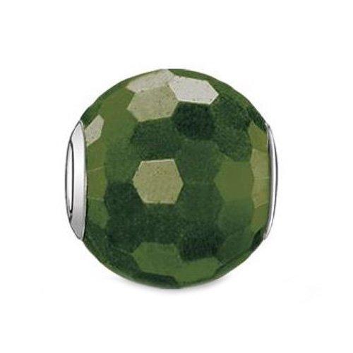 Thomas Sabo Damen-Bead Karma 925 Silber Heliotrop grün - K0090-652-6