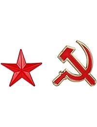 Fengteng Rusia Hoz y martillo Rojo Estrella Sets Broche Pin De Solapa Hombres