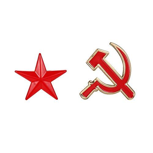 Fengteng Rusia Hoz martillo Rojo Estrella Sets Broche
