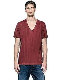 Diesel homme - T-shirt manches courtes Rouge Diesel Baraham - Taille vêtements - M