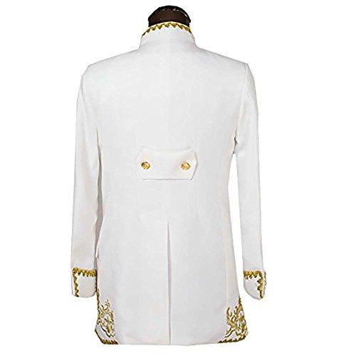 Slim Fit Schnitt Herren Königlichen Stil Herrenmode Anzüge Smoking Hochzeit Weiß