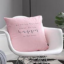 ANHPI Almohada Decorativa Negro Y Letras Blancas Almohada del Sofá Nórdica Almohada Que Contiene El Núcleo