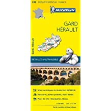 Carte Gard, Hérault Michelin