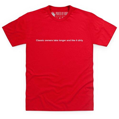 Longer and Dirty T-Shirt, Herren Rot
