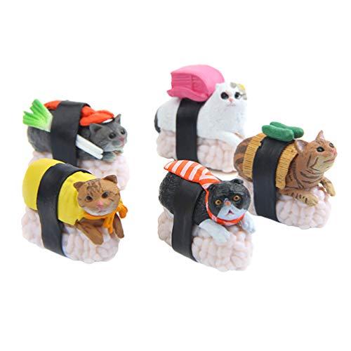 Descripción    El modelo de diseño de sushi cat está hecho de material de PVC de alta calidad, los juguetes son seguros, bonitos y duraderos. Además, pueden hacer que los niños tengan un contacto cercano con los gatos, también promueven la capacidad...