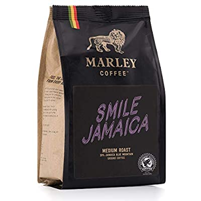 Smile Jamaica Medium Roast, 20% Jamaica Blue Mountain Coffee Blend, Marley Coffee, from The Family of Bob Marley by Marley Coffee