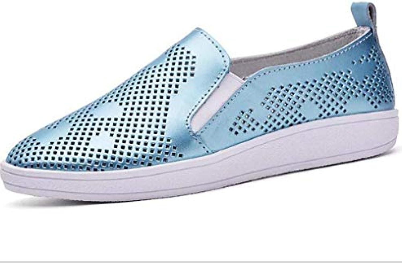 Sandali con fondo spesso estivo Casual con scollatura semplice Scarpe piatte Scarpe con vero cuoio da donna, blu... | Acquista  | Maschio/Ragazze Scarpa