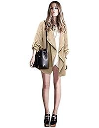 Tongshi Mujer Casual de manga larga chaqueta de punto otoño Cazadora abrigo