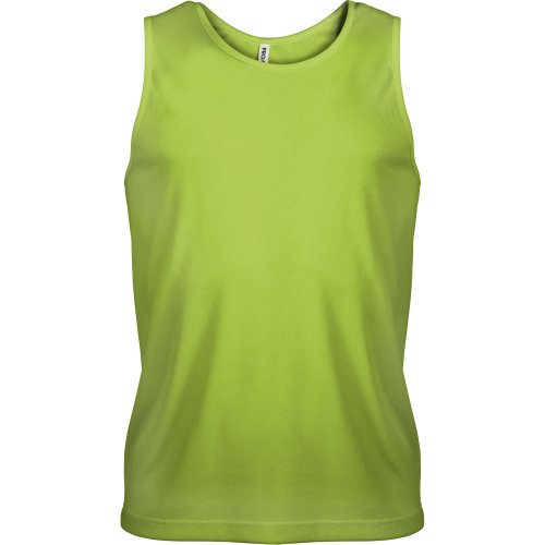 Damen Ärmellose Shell (Kariban Proact Herren Sport-Oberteil / Sport-Top, ärmellos (Small) (Limette))