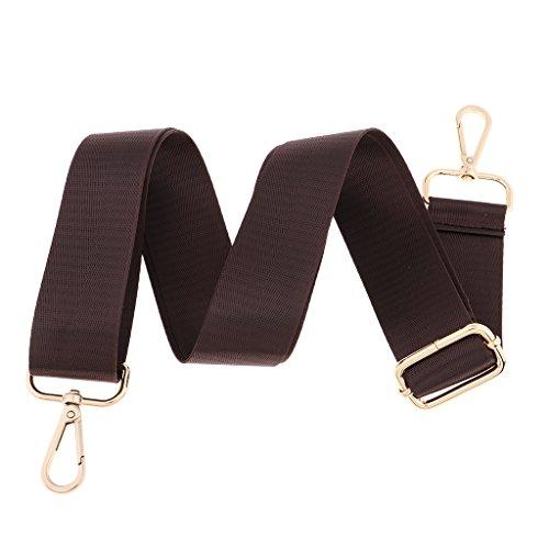 sharplace cinghia di borsa a tracolla, cinghia di ricambio per borsa per computer portatile misura regolabile 70-125cm marrone