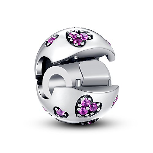 Glamulet Damen Bead Clip 925 Sterling Silber fit for Pandora Charm