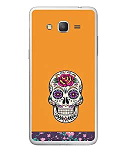 PrintVisa Designer Back Case Cover for Samsung Galaxy J5 (2015) :: Samsung Galaxy J5 Duos (2015 Model) :: Samsung Galaxy J5 J500F :: Samsung Galaxy J5 J500Fn J500G J500Y J500M (Cloth Design Teeth Flower Lilly Branch Skeleton)