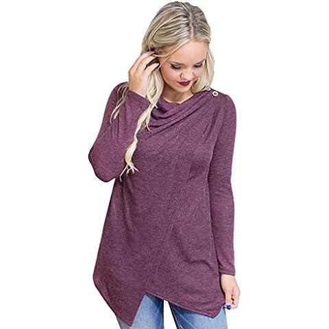 YouPue Mujeres Camiseta Blusa Manga Larga Irregular Camiseta Sudaderas Pullover Tops Shirt Otoño