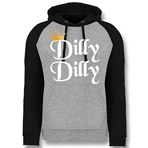 St. Patricks Day - Dilly Dilly - St. Patricks Day - XXL - Grau meliert/Schwarz - JH009 - Baseball ()