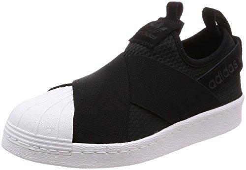 Adidas Superstar Slip On W, Scarpe da Ginnastica Donna, Nero Core Black/Ftwr White, 40 2/3 EU