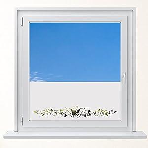 DD Dotzler Design 6416-9 individuelle Sichtschutzfolie Fensterfolie Milchglas Ornament Tribal Schmetterling Blumen