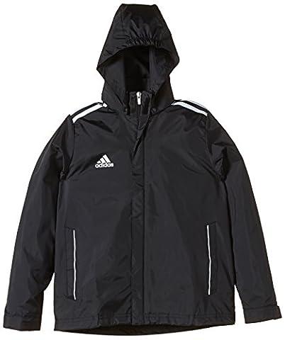 adidas Kinder Bekleidung Teamline Core 11 Rain Jacket, Black/White, 140, V39444